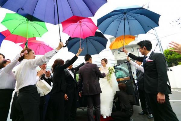 雨の日の結婚式|札幌の結婚式場|ピエトラセレーナ