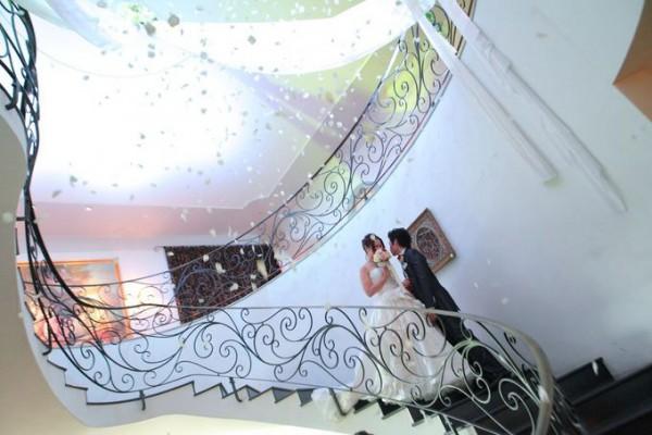 結婚式|螺旋階段|ピエトラセレーナ