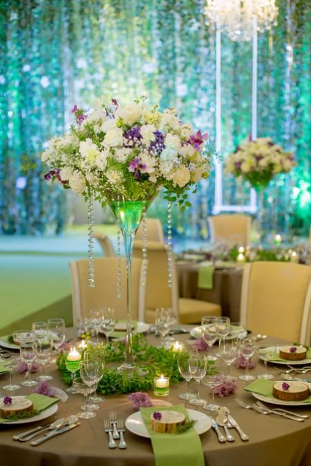 テーブルセッティング|装花