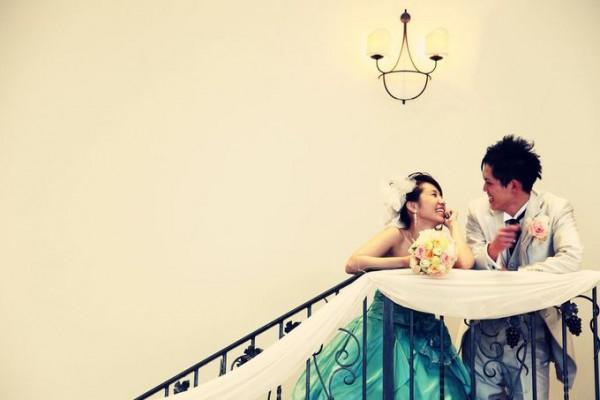 結婚式当日のお二人