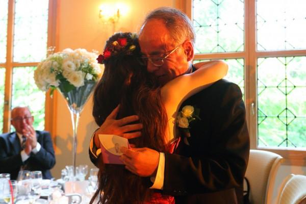 結婚式当日|花嫁と父