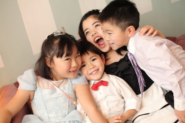 子供たちの笑顔|結婚式