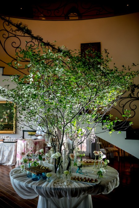 緑のディスプレイ|結婚式