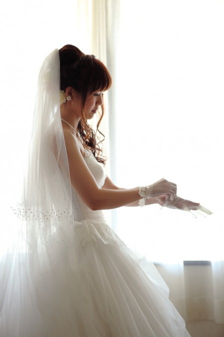 お支度を行う花嫁様