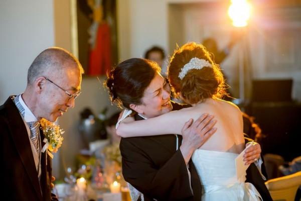 ご両親様と花嫁|ピエトラセレーナ
