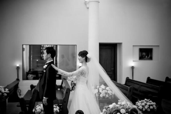 結婚式直前の新郎新婦のふたり|ピエトラセレーナ
