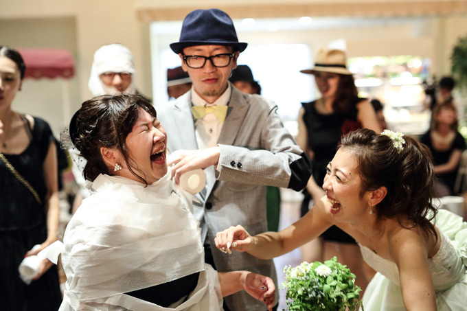 花嫁と友人