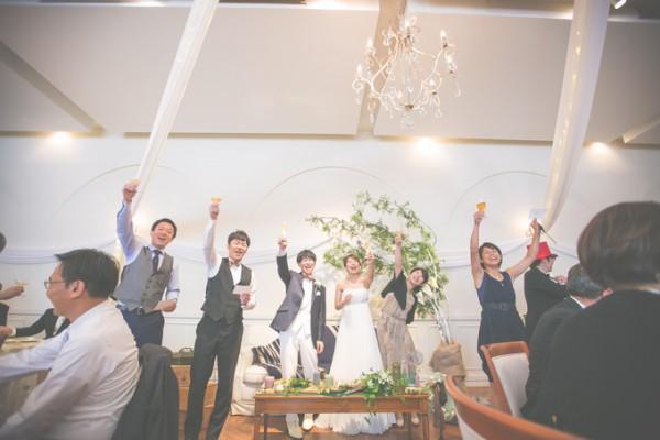 乾杯シーン|結婚式当日