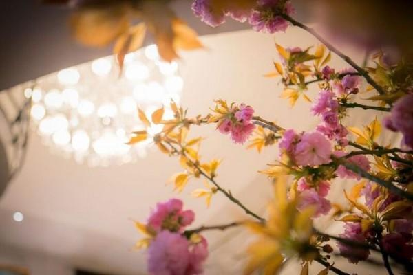 桜の会場装花