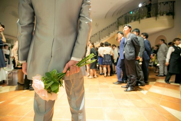 結婚式のラストシーン