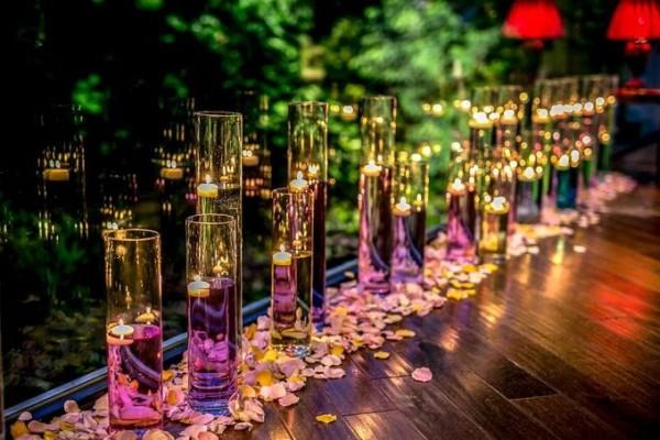結婚式のディスプレイ|夜