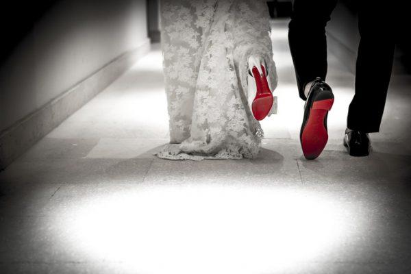 新郎新婦の二人の靴