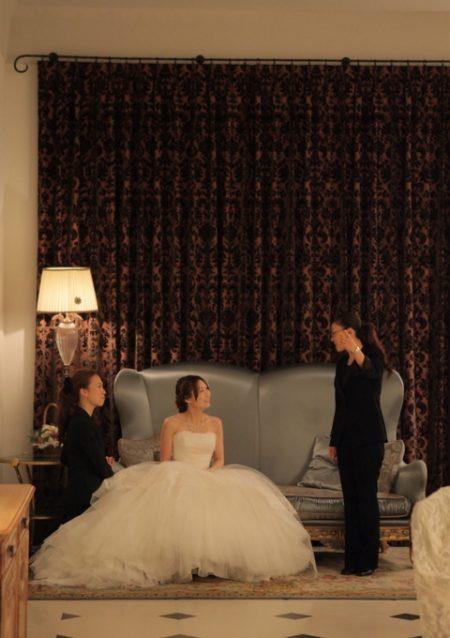 スタッフと花嫁様