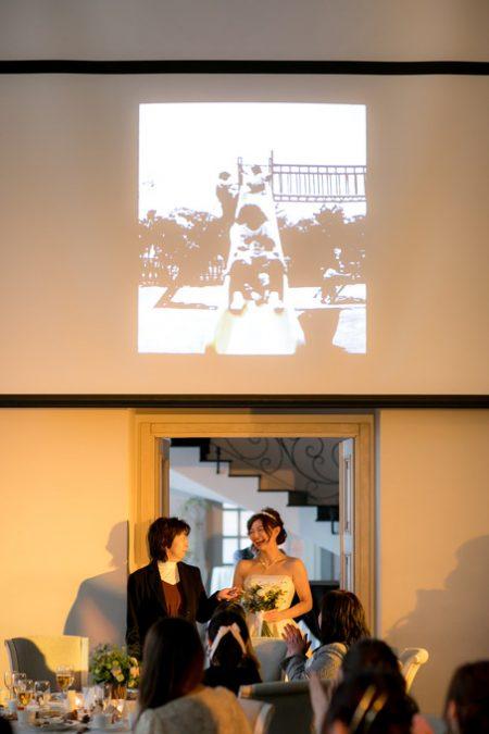 花嫁とスクリーン
