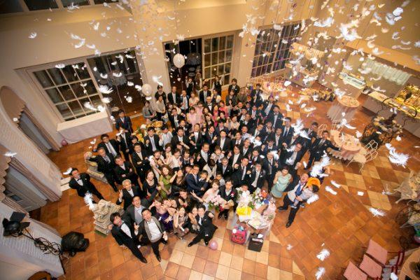 結婚式の集合写真|ピエトラセレーナ